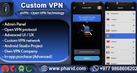 Custom VPN - eVPN | OpenVPN, Admin Panel, RestAPI