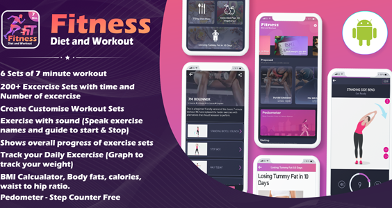 Fitness Diet & Workout App