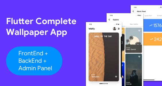 Flutter Wallpaper App - Frontend+ Backend+ Admin Panel (Full App)