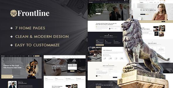 Frontline - Attorney & Lawyer WordPress Theme