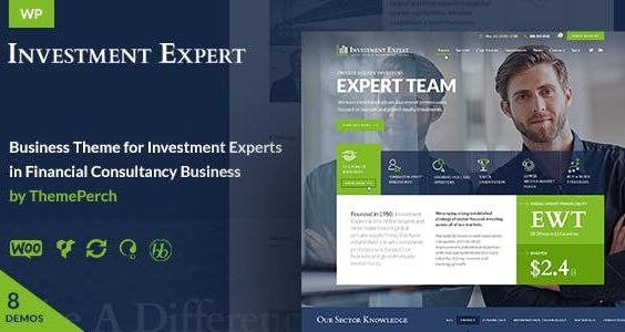 Investment Expert - Business Theme for Agencies in Financial Consultancy + RTL