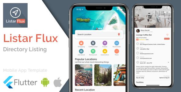 Listar Flux - mobile directory listing app template for Flutter