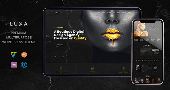 Luxa - Luxury Black MultiPurpose WordPress Theme