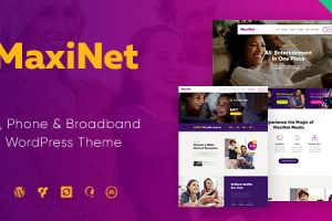 MaxiNet | Broadband & Telecom Internet Provider WordPress Theme