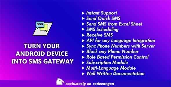 Mobile SMS Gateway - Turn Your Android Device into SMS Gateway