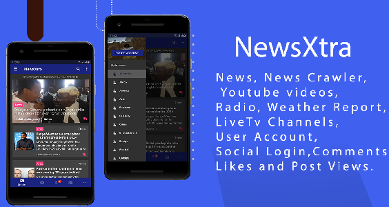 NewsExtra - Articles + Radio + Youtube + Weather + LiveTv