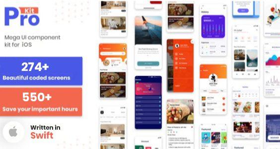 Prokit - iOS App Ui Design Templete Kit with SoftUI