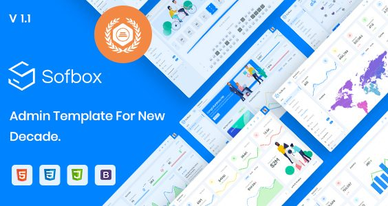 Sofbox Admin - Cleanest HTML Dashboard Template with SoftUI