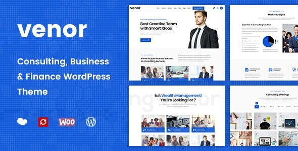 Venor - Business Consulting WordPress Theme