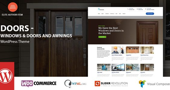 Windows & Doors - High Quality WordPress Theme