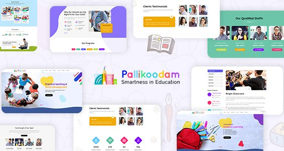 Pallikoodam - Kids School WordPress Theme