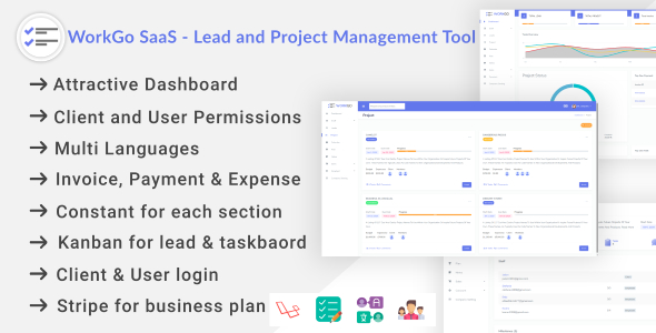 WorkGo SaaS - Lead and Project Management Tool