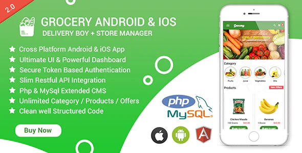 Grocery Android iOS App