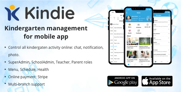 Kindie App - kindergarten management mobile app