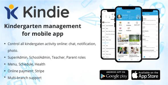 Kindie App - kindergarten management mobile app