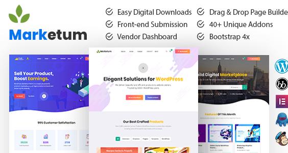 Marketum | Digital Product Marketplace WordPress Theme