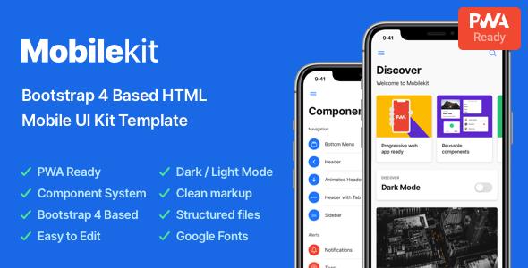 Mobilekit - Bootstrap 4 Based HTML Template
