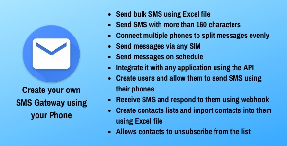 SMS Gateway - Use Your Phone as SMS Gateway