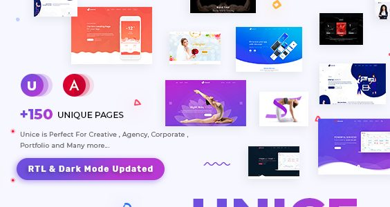 Unice - Multipurpose Angular 9 Template