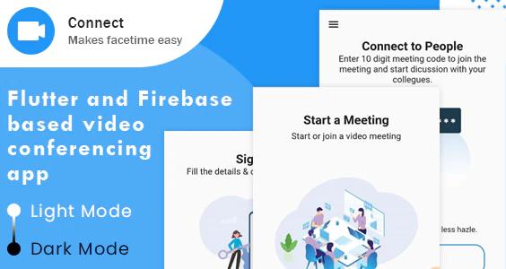 Connect Flutter based Video conferencing App