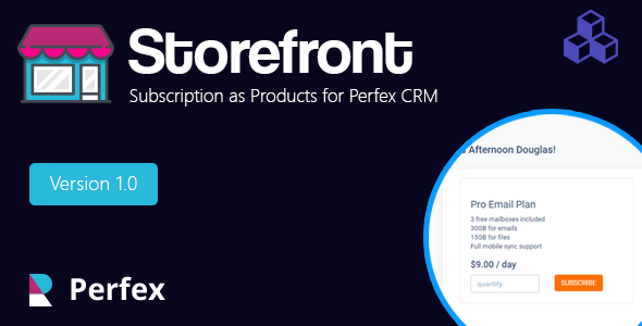 Subscription as Products for Perfex CRM