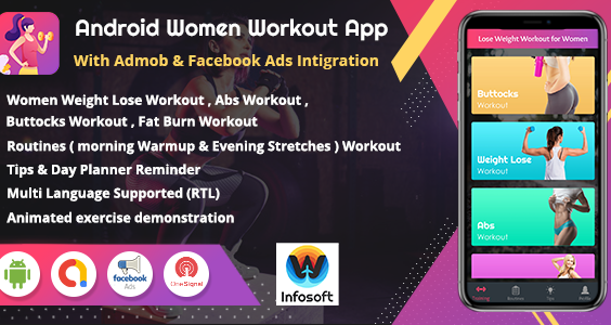 Android Women Workout at Home - Women Fitness app