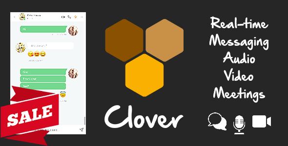 Clover - Real-Time Messaging, Audio & Video Conferencing Web App - Node.js, React, WebRTC, Socket.IO