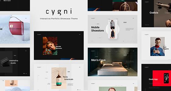 Cygni - Interactive Portfolio Showcase WordPress Theme