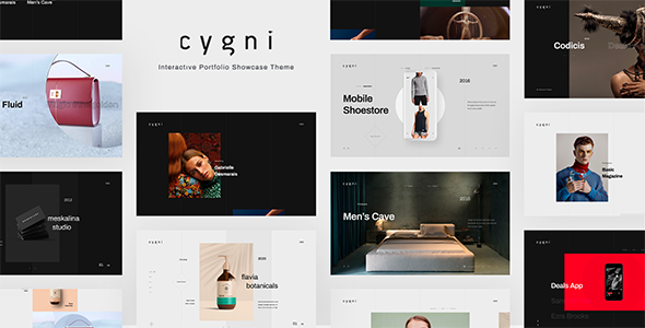 Cygni - Interactive Portfolio Showcase WordPress Theme