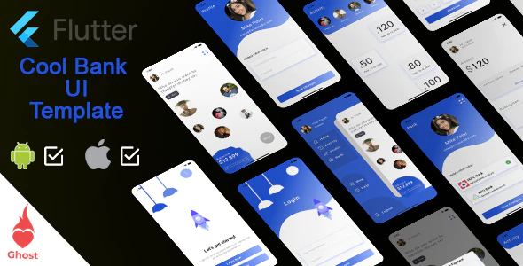 Flutter Financial UPI Banking app Template
