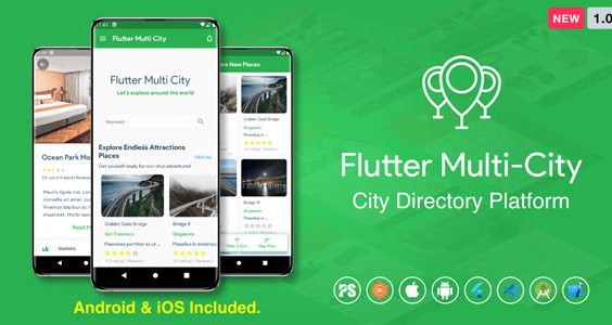Flutter Multi City ( Directory, City Tour Guide, Business Directory, Travel Guide, Booking ) 1.0