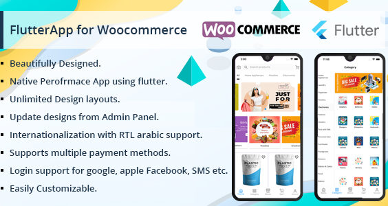 Flutter Multivendor Mobile app for WooCommerce