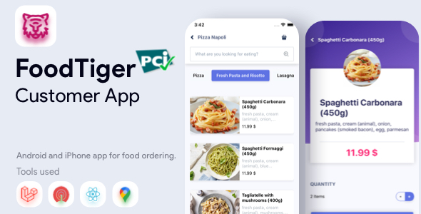 Food Delivery ReactNative - FoodTiger
