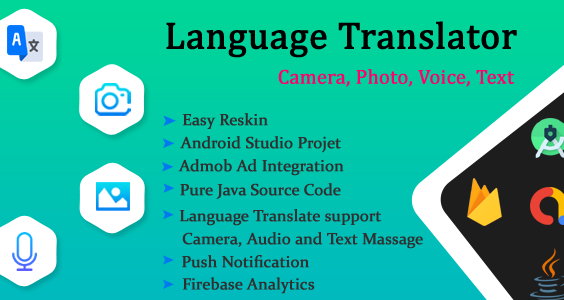 Language Translator Free, Camera, Voice, From Photos, Text Translate All