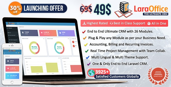 LaraOffice Ultimate CRM and Project Management System
