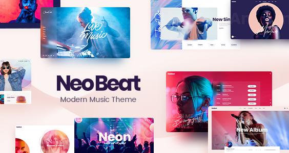 NeoBeat - Music WordPress Theme