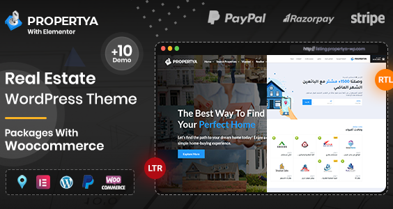 Propertya - Real Estate WordPress Theme