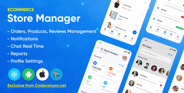 Store Manager - React Native Application for Wordpress Woocomerce.
