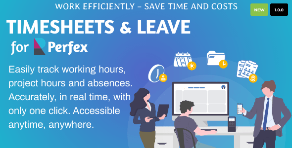Timesheets and Leave Management for Perfex CRM