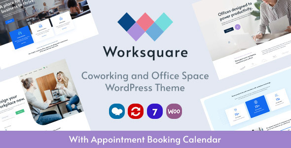Worksquare - Coworking and Office Space WordPress Theme