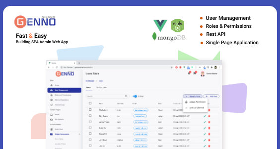 Genno Admin Starter - Rest API, User Management, Roles and Permissions