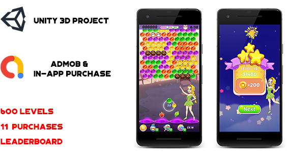 Nikki Bubble Shooter Unity 3d Game for Android & IOS
