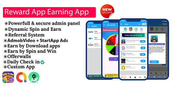 Reward App Lucky Spin + Start App ads