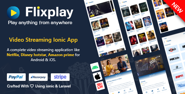 Video Streaming App Like Netflix Primevideo hotstar php adminpanel