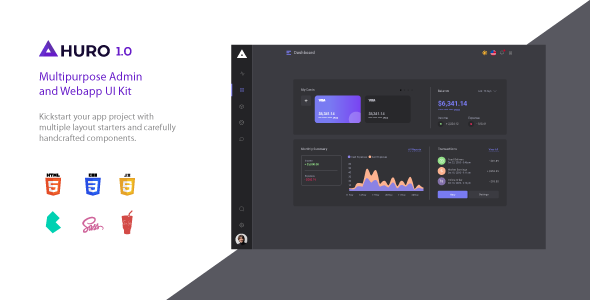 Huro - Multipurpose Admin and Webapp UI Kit