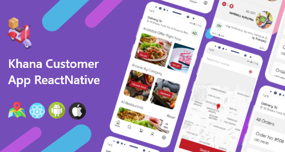 Khana Multi Restaurants And Food Delivery Customer App