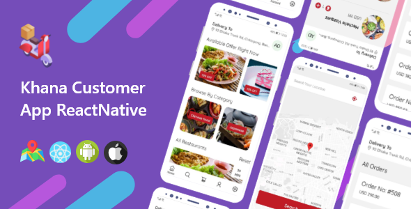 Khana Multi Restaurants And Food Delivery Customer App