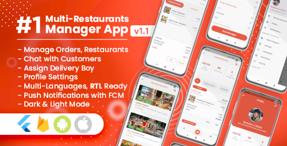 Manager / Owner for Multi-Restaurants Flutter App