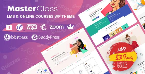 MasterClass - LMS & Education WordPress Theme
