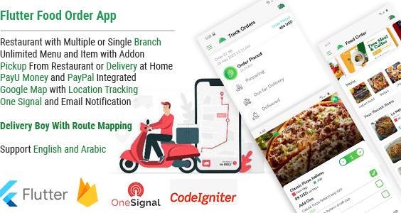 Single Restaurant Food Order Flutter full product Android & IOS + Delivery boy Native Android app